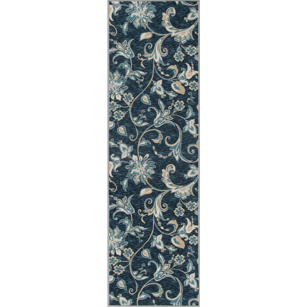 Tayse Rugs Majesty Navy 2 ft. 3 in. x 11 ft. Runner Rug