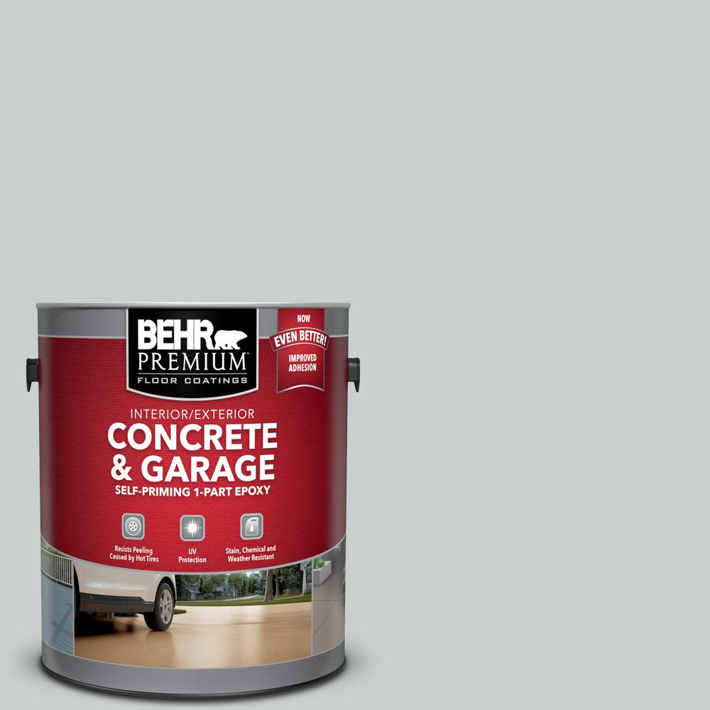 BEHR Premium 1 gal. #PFC-61 Foggy Morn Self-Priming 1-Part Epoxy Satin Interior/Exterior Concrete and Garage Floor Paint