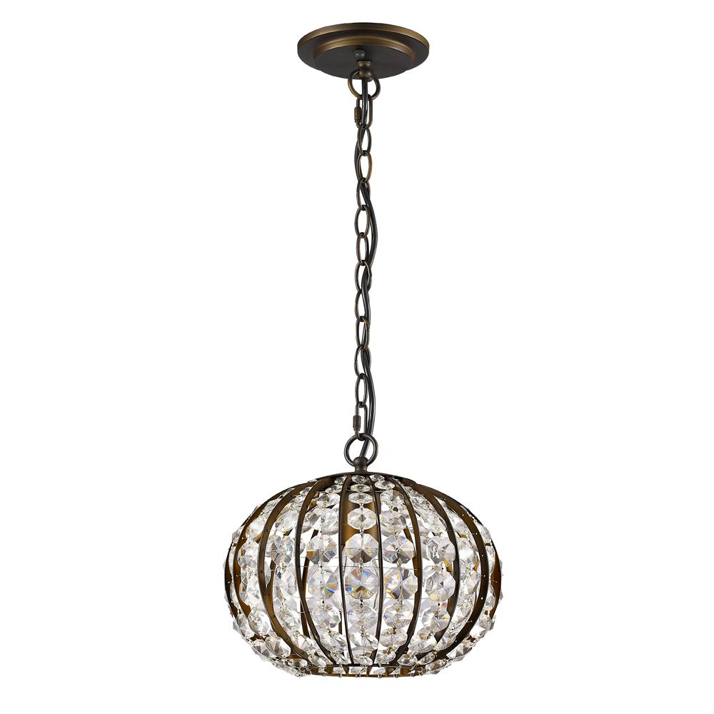 Acclaim Lighting Olivia 1 Light Indoor Pendant Oil Rubbed Bronze With Crystal