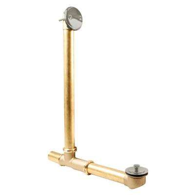 Above Floor Overflow with Tip-Toe Trim and 2-Hole Overflow Cover, Oil Rubbed Bronze