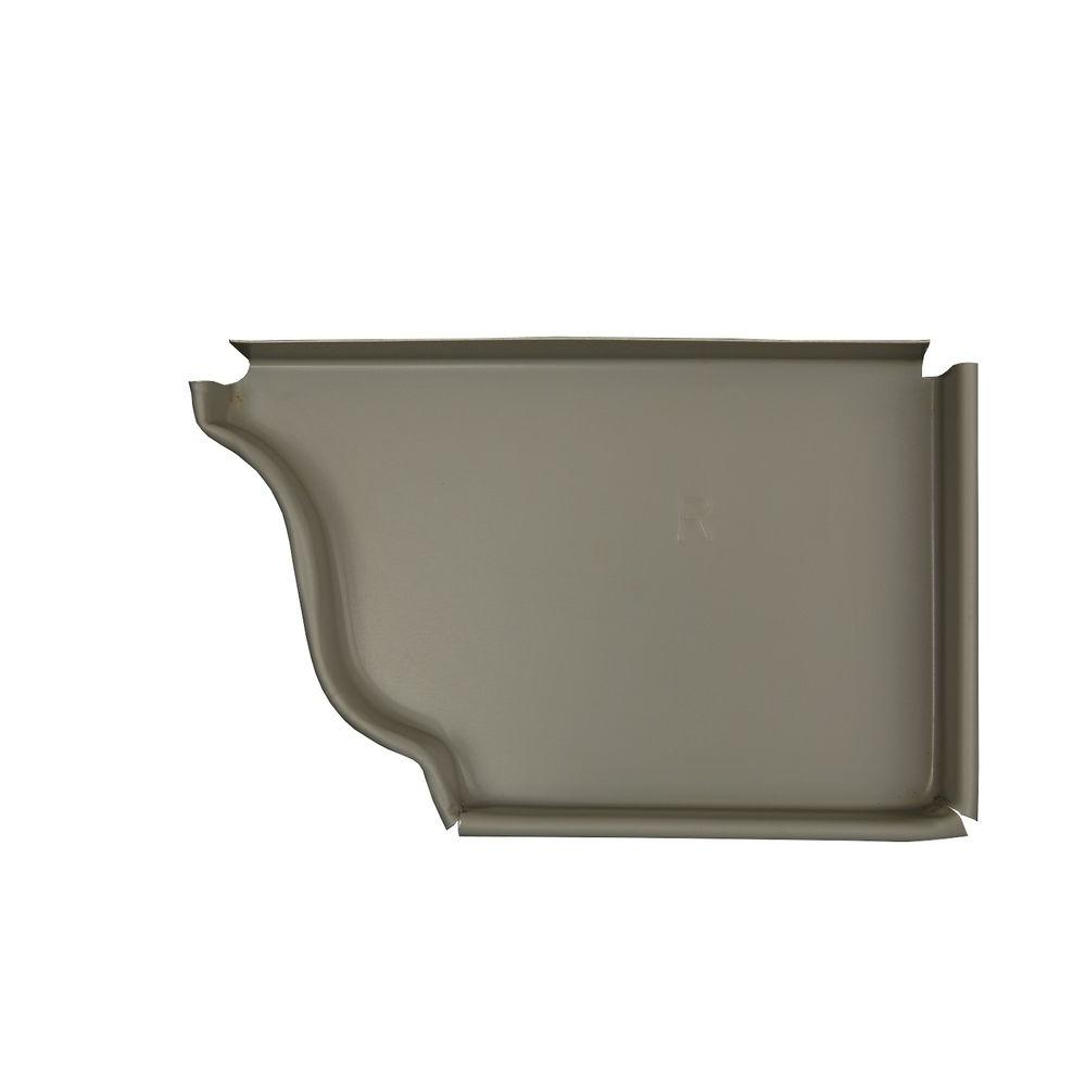 Amerimax Home Products 5 in. Pearl Gray Aluminum Right End Cap