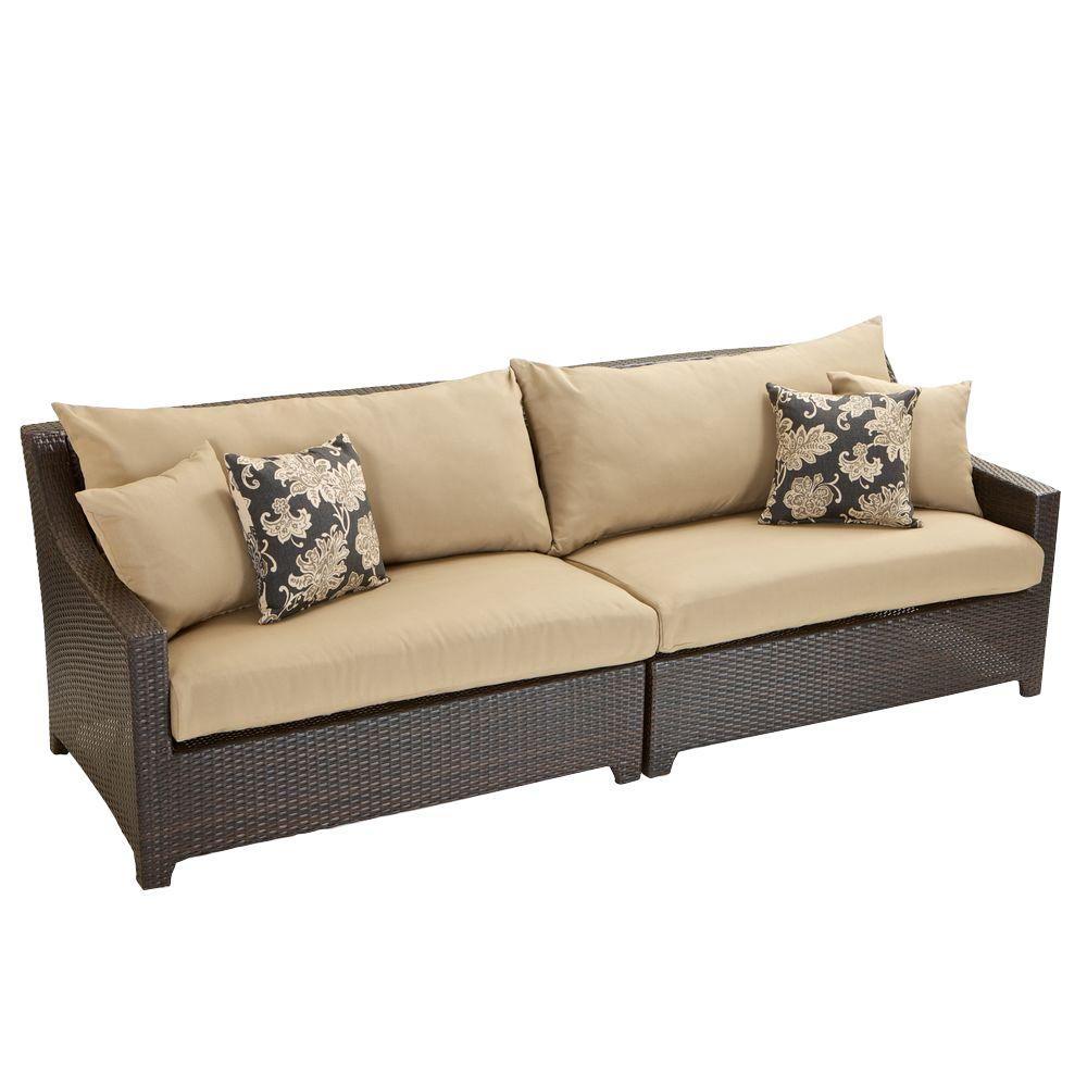Deco Patio Sofa With Delano Beige Cushions