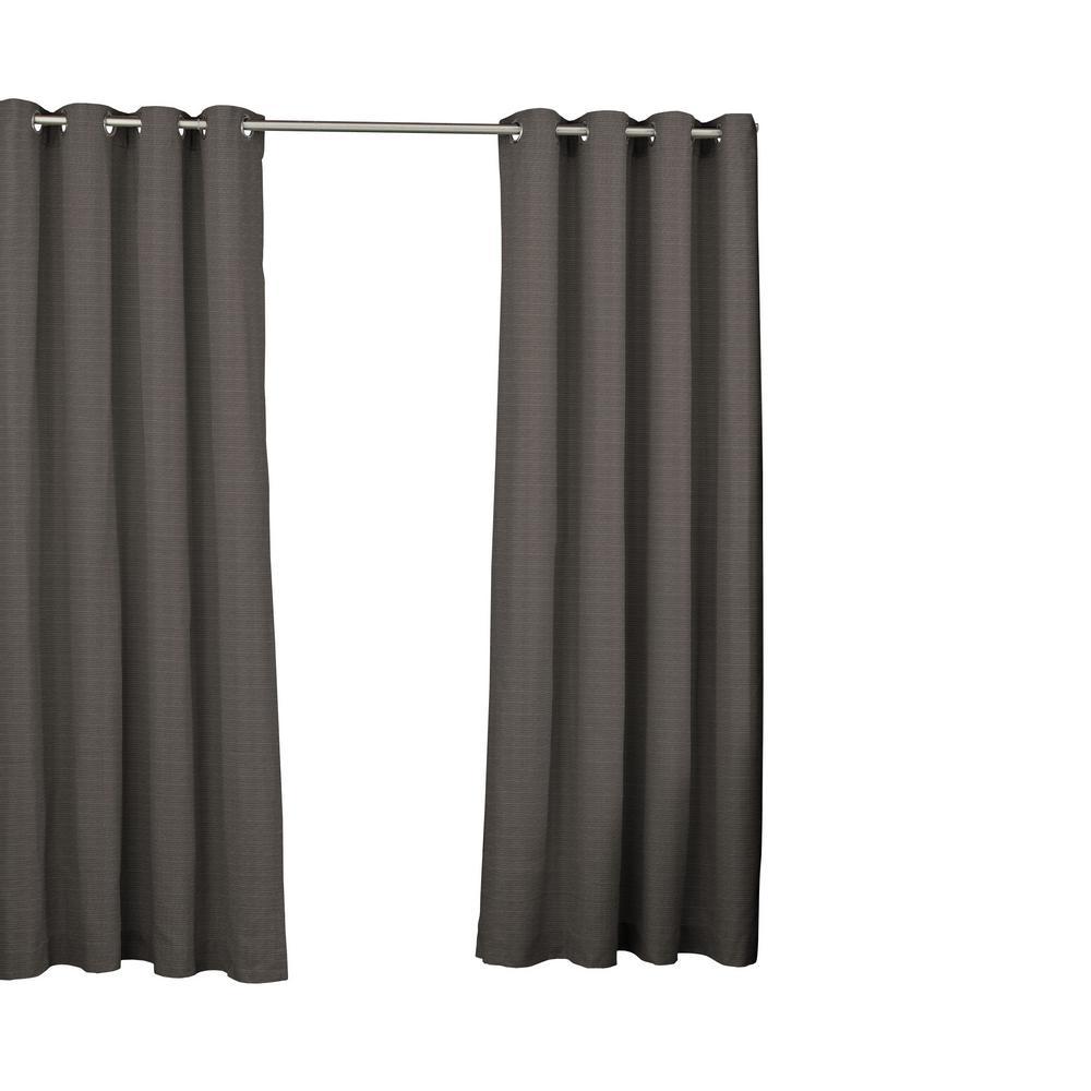 52 in. W x 84 in. L Key Largo Window Curtain Panel in Smoke