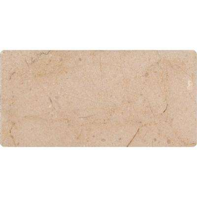 Crema Marfil 3 in. x 6 in. Polished Marble Floor and Wall Tile (1 sq. ft. / case)