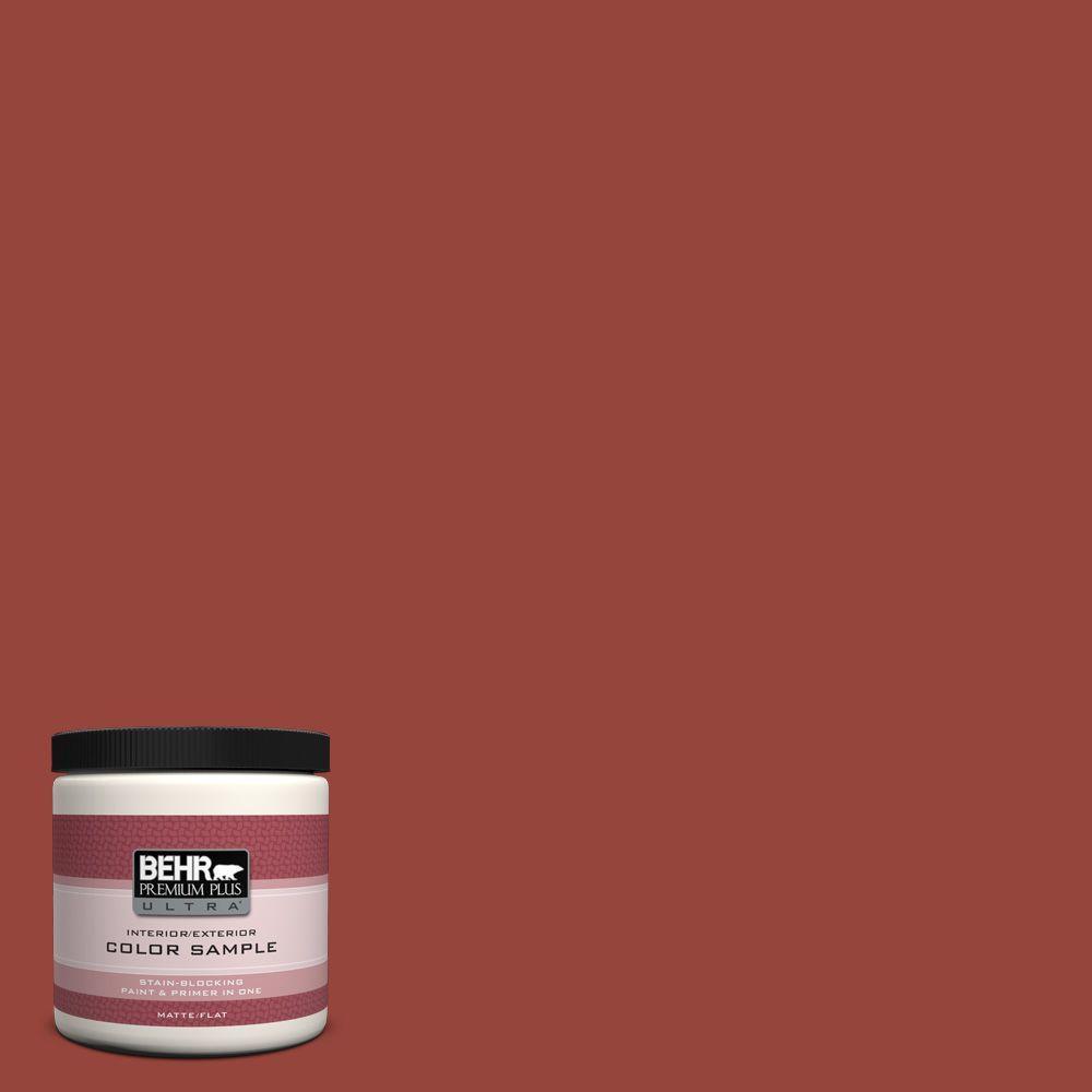 BEHR Premium Plus Ultra 8 oz. #PPU2-17 Morocco Red Interior/Exterior Paint Sample
