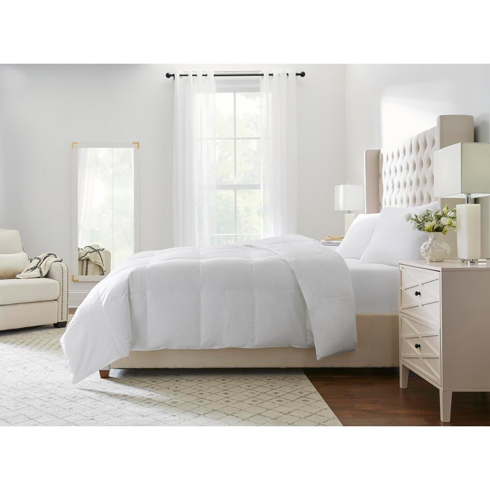 Medium Weight Down White Cotton Full/Queen Comforter