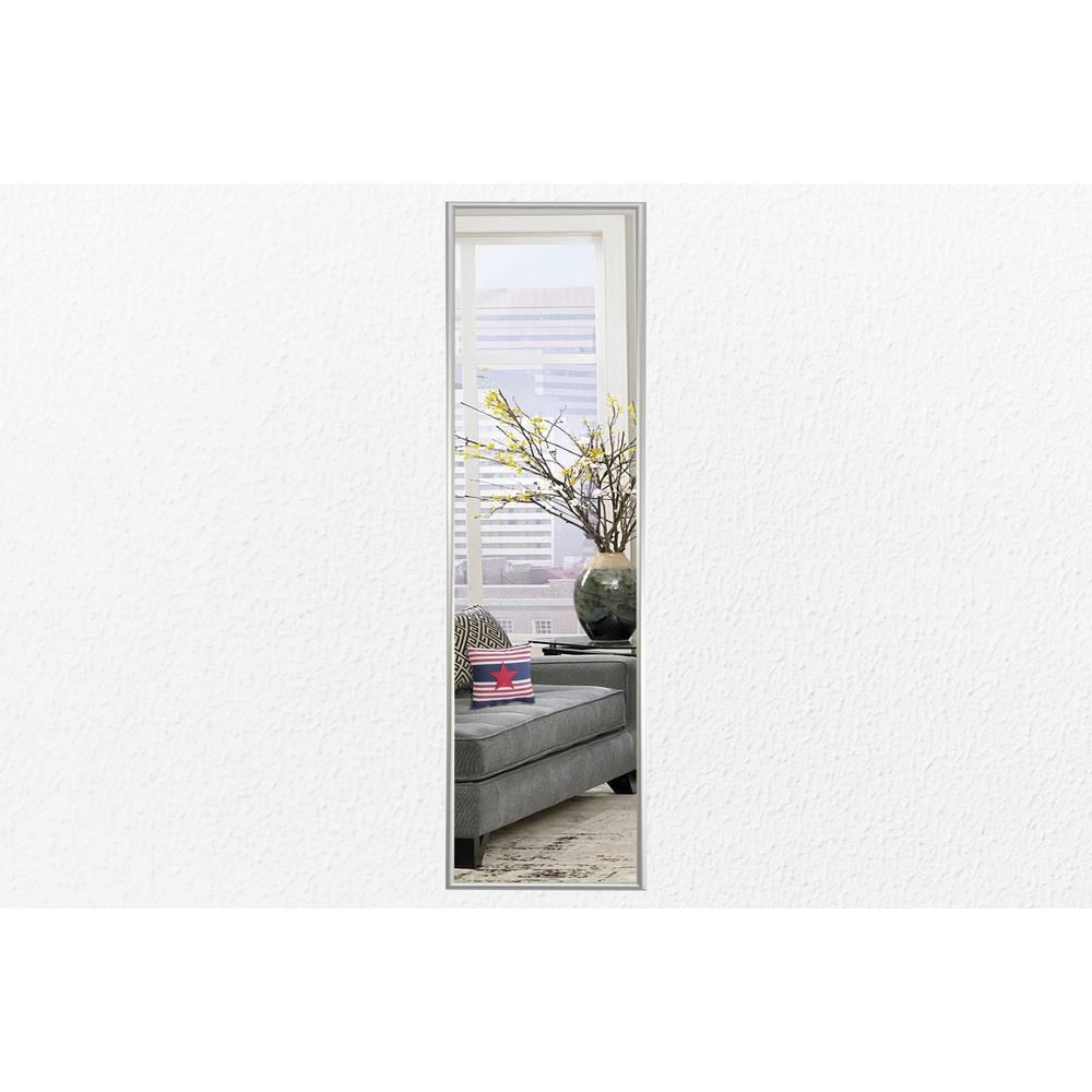 20.125 in. x 4.125 in. Charlie Satin Silver Panel Vanity Mirror