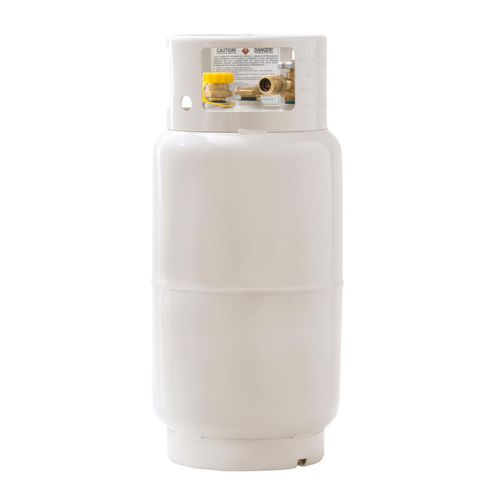 Flame King 33 5 lbs  Forklift Propane Tank Cylinder LP with Gauge and Fill  Valve