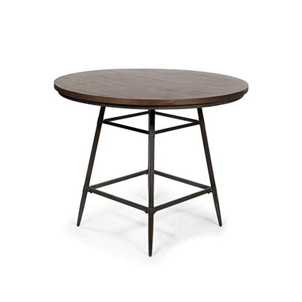 Industrial 36 in. H Weathered Gray Counter Height Table