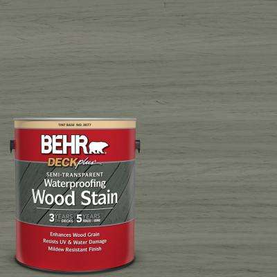 1 gal. #ST-137 Drift Gray Semi-Transparent Waterproofing Exterior Wood Stain