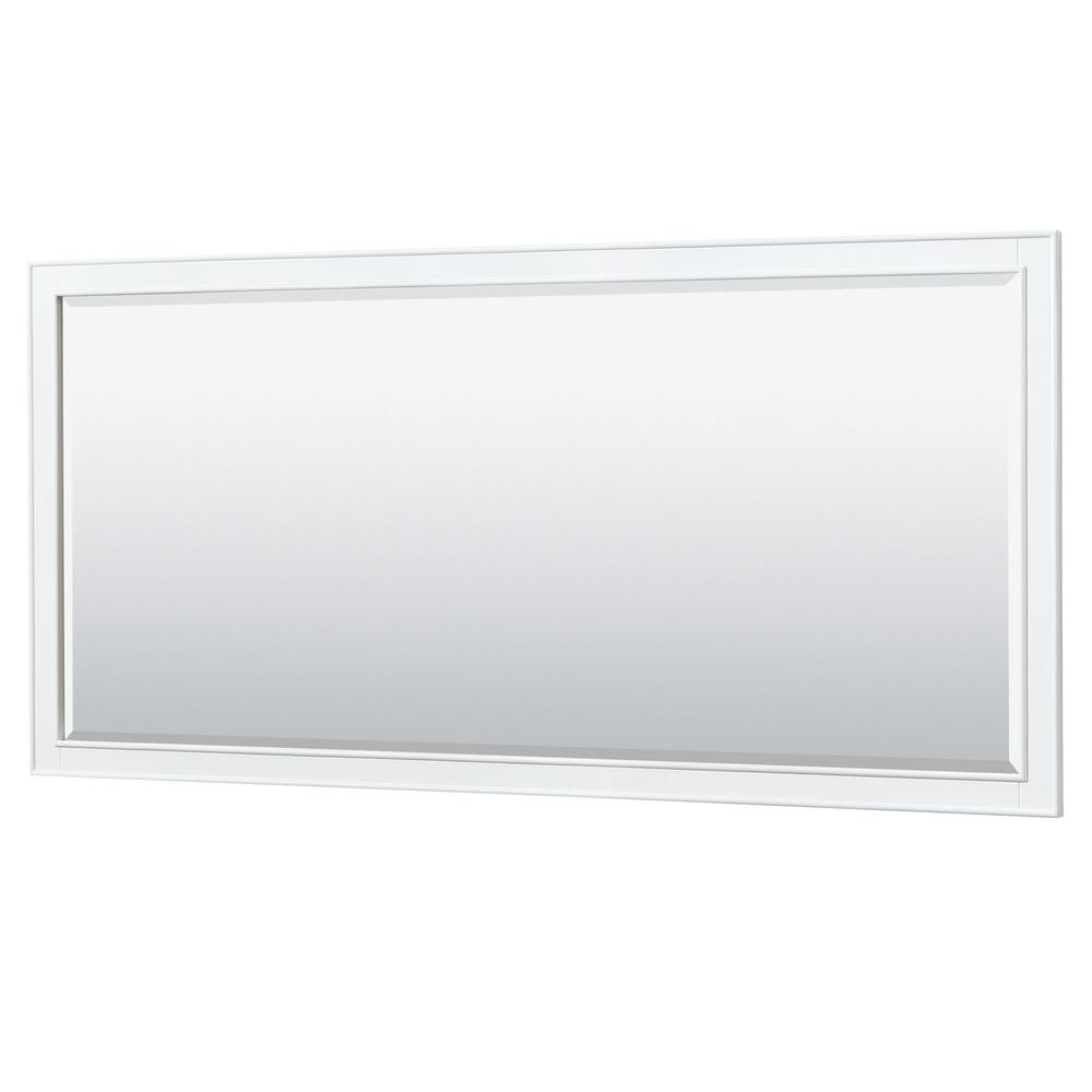 Wyndham Collection Deborah 70 in. W x 33 in. H Framed Wall Mirror in White