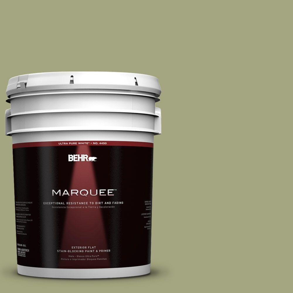 BEHR MARQUEE 5-gal. #410F-4 Mother Nature Flat Exterior Paint