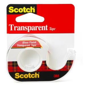 3M Scotch 1/2 inch x 12.5 yds. Transparent Tape (Case of 144) by 3M