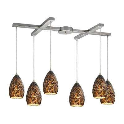 Geval 6-Light Satin Nickel Pendant