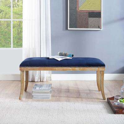 Expression Navy Velvet Bench
