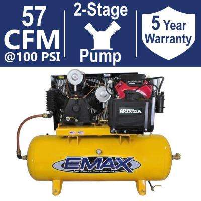 Industrial PLUS Series 80 Gal. 24 HP 2-Stage Stationary Gasoline Electric Air Compressor