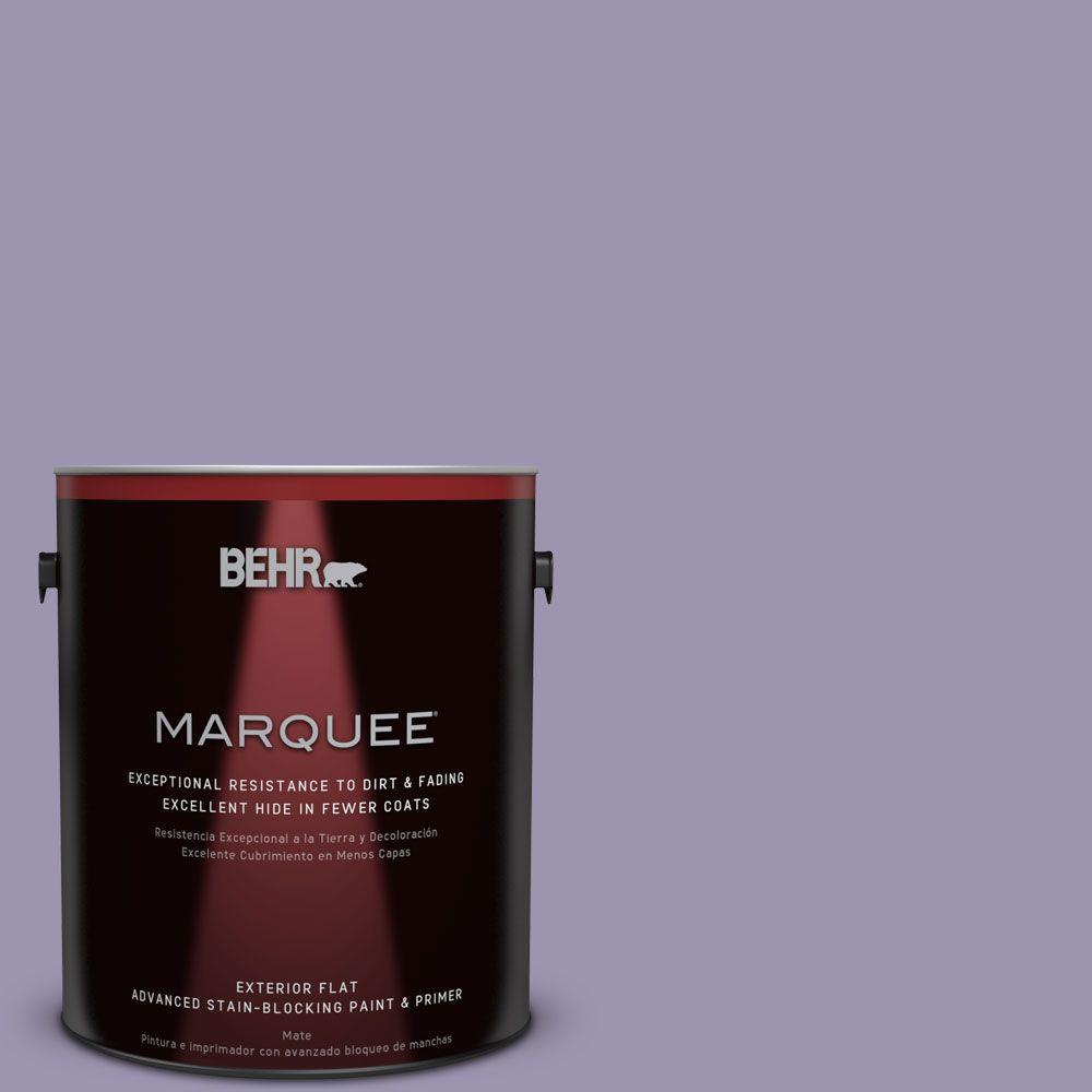 BEHR MARQUEE 1-gal. #S570-4 Night Music Flat Exterior Paint
