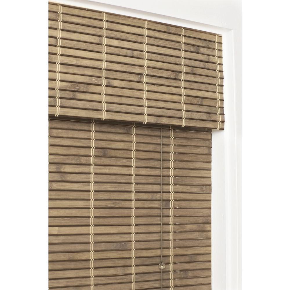 22.5x48 In Bamboo Weave Roman Shade Window Blinds Woven