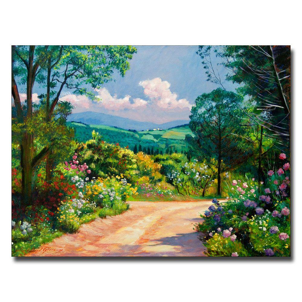Trademark Fine Art 26 in. x 32 in. The Tuscany Hills Canvas Art