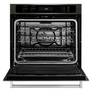 black stainless kitchenaid single electric wall ovens kose500ebs e1_300 kitchenaid 30 in single electric wall oven self cleaning with  at soozxer.org