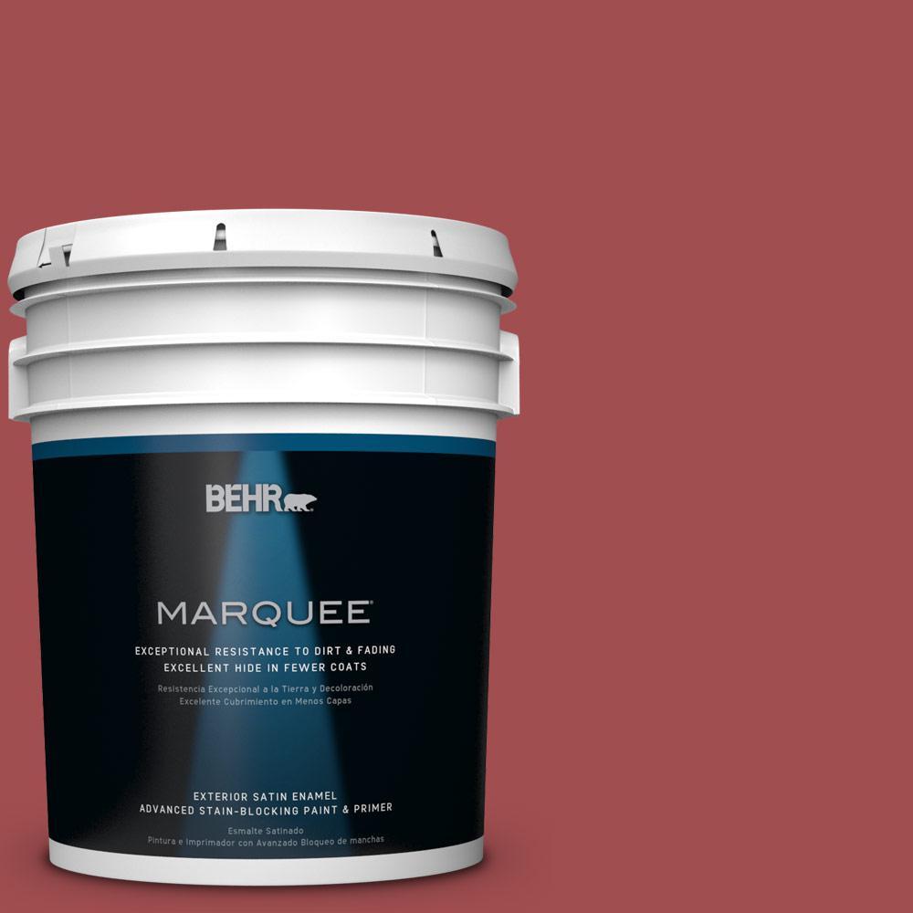 BEHR MARQUEE 5-gal. #M150-7 Sweet Cherry Satin Enamel Exterior Paint