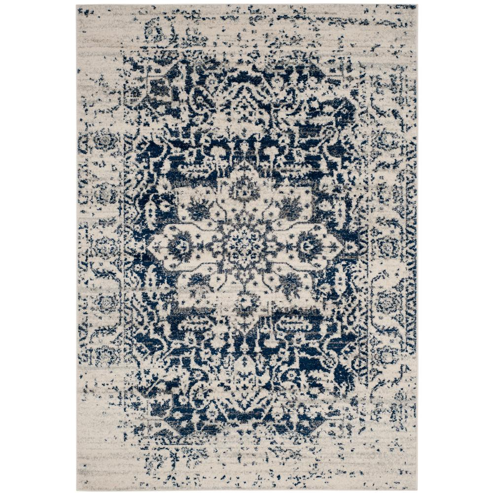 Safavieh Madison Cream Navy 4 Ft X 6 Ft Area Rug Mad603d 4 The