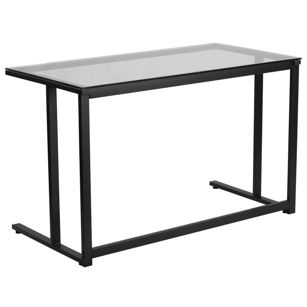 Clear Computer Desk