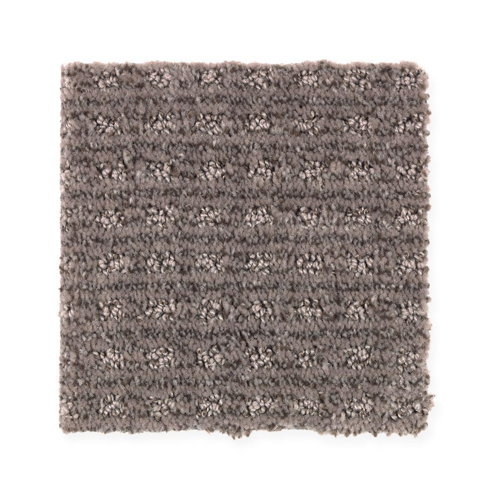 Carpet Sample - New Start II - Color Truffle Pattern 8 in. x 8 in.