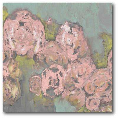 "30 in. x 30 in. ""Blush Pink Flowers II"" Gallery Wrapped Canvas Printed Wall Art"