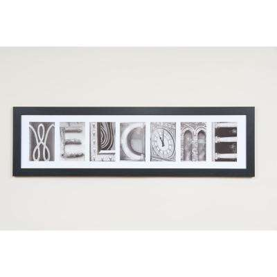 7-Opening 4 in. x 6 in. White Matted Black Photo Collage Frame