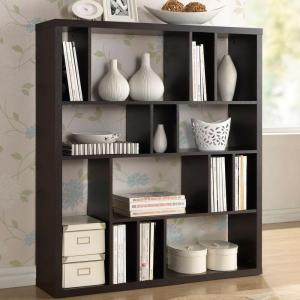 Baxton Studio Danett Dark Brown Open Bookcase by Baxton Studio