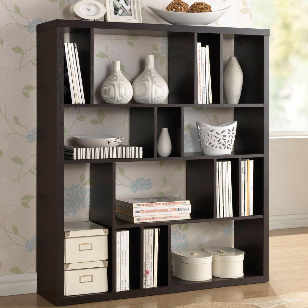Danett Dark Brown  Open Bookcase