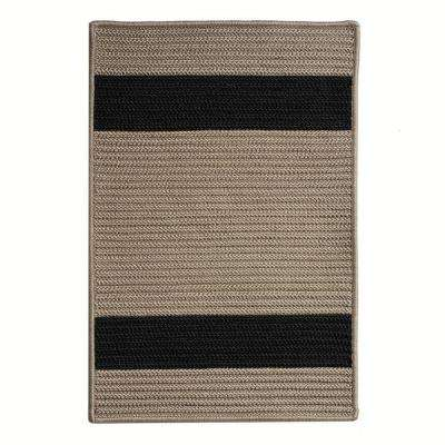 Cafe Milano 11 ft. x 11 ft. Tostado/Black Indoor/Outdoor Braided Area Rug