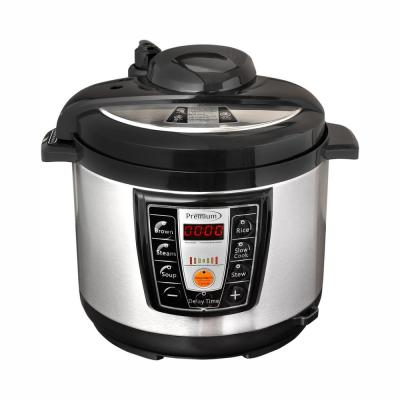 5.2 Qt. Black and Silver Electric Pressure Cooker with Browning Control
