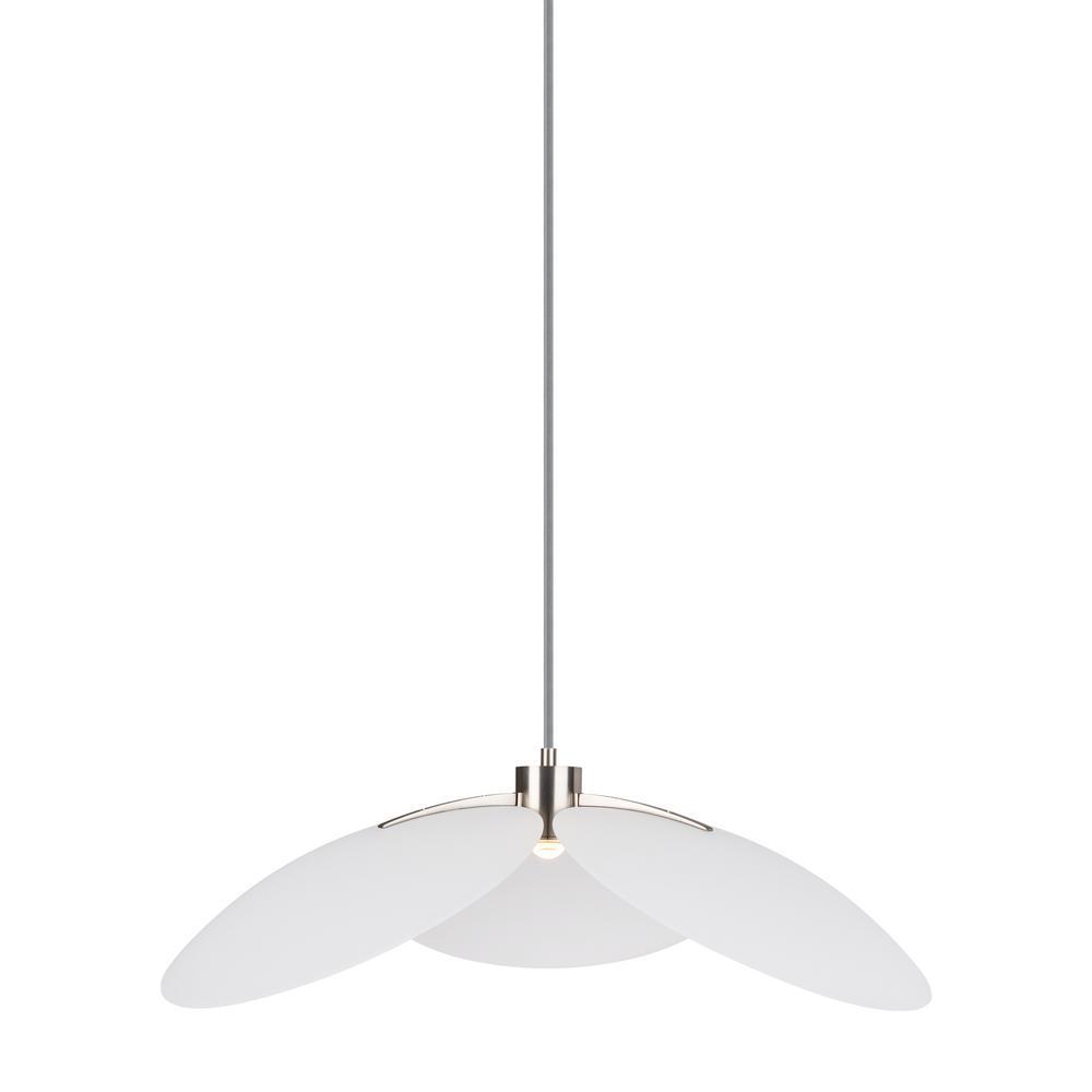 LBL Lighting Oma 1-Light White LED Pendant-LP953WHLEDWD - The Home Depot