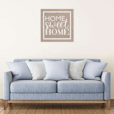 Home Sweet Home Plank Wooden Decorative Sign