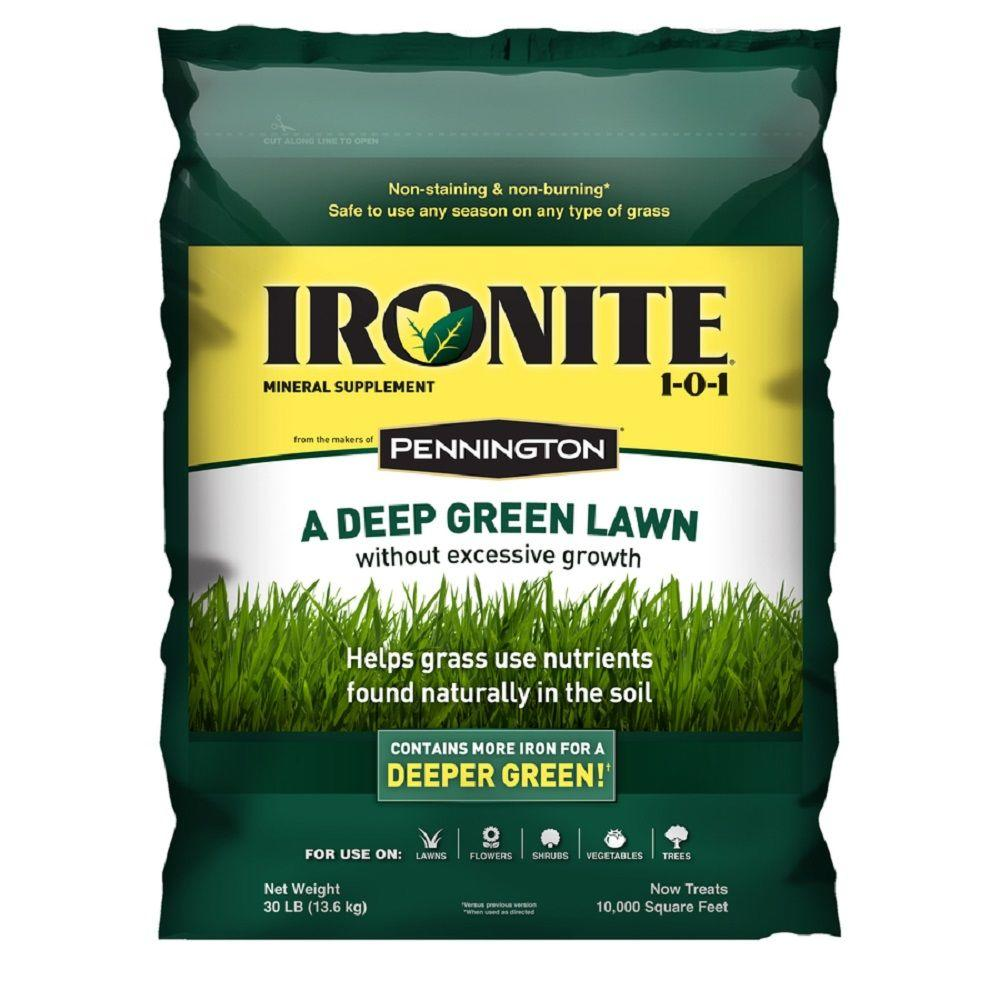 Best Lawn Fertilizer >> Ironite 30 Lb 1 0 1 Lawn Fertilizer 100524179 The Home Depot