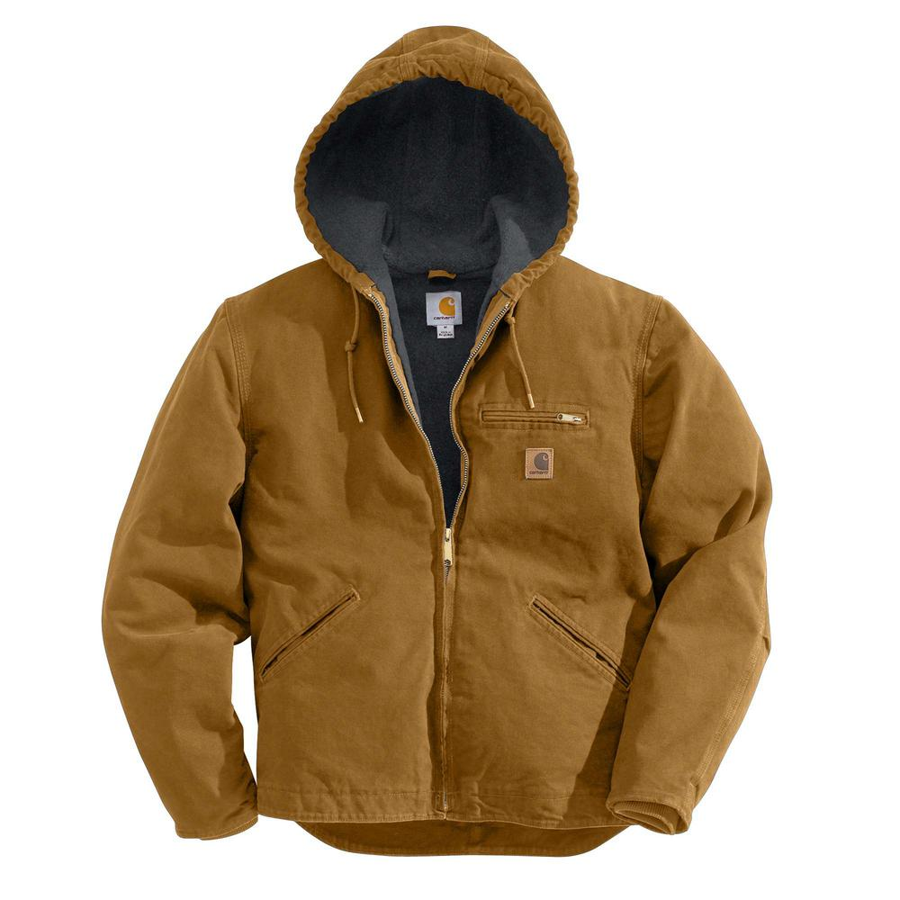 Carhartt Men S 4 Xlt Carhartt Brown Cotton Sierra Jacket