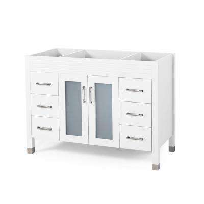 Halston 48 in. W x 22 in. D Bath Vanity Cabinet Only in White