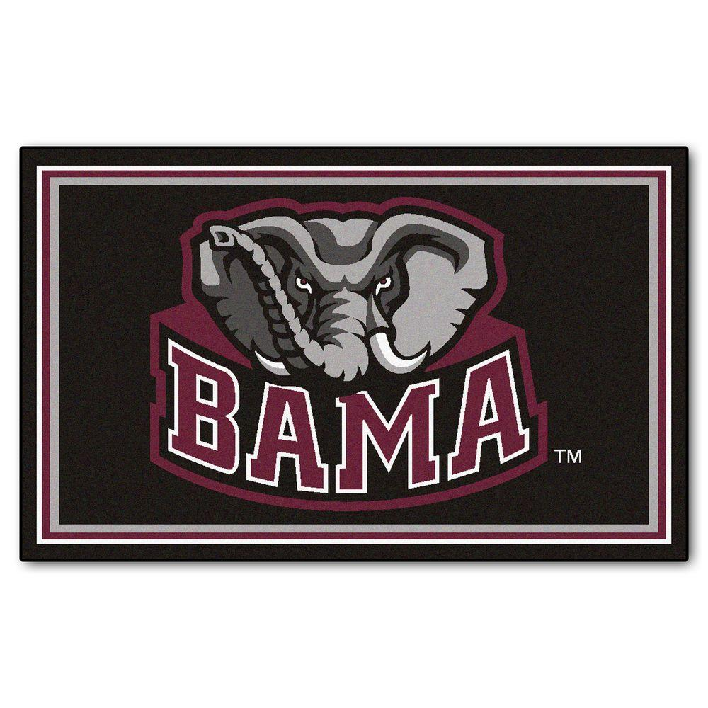 Fanmats University Of Alabama 4 Ft X 6 Ft Area Rug 6276 The Home