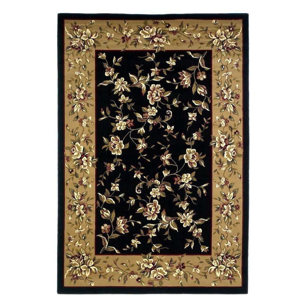traditional florals blackbeige 9 ft 10 in x 13 ft 2