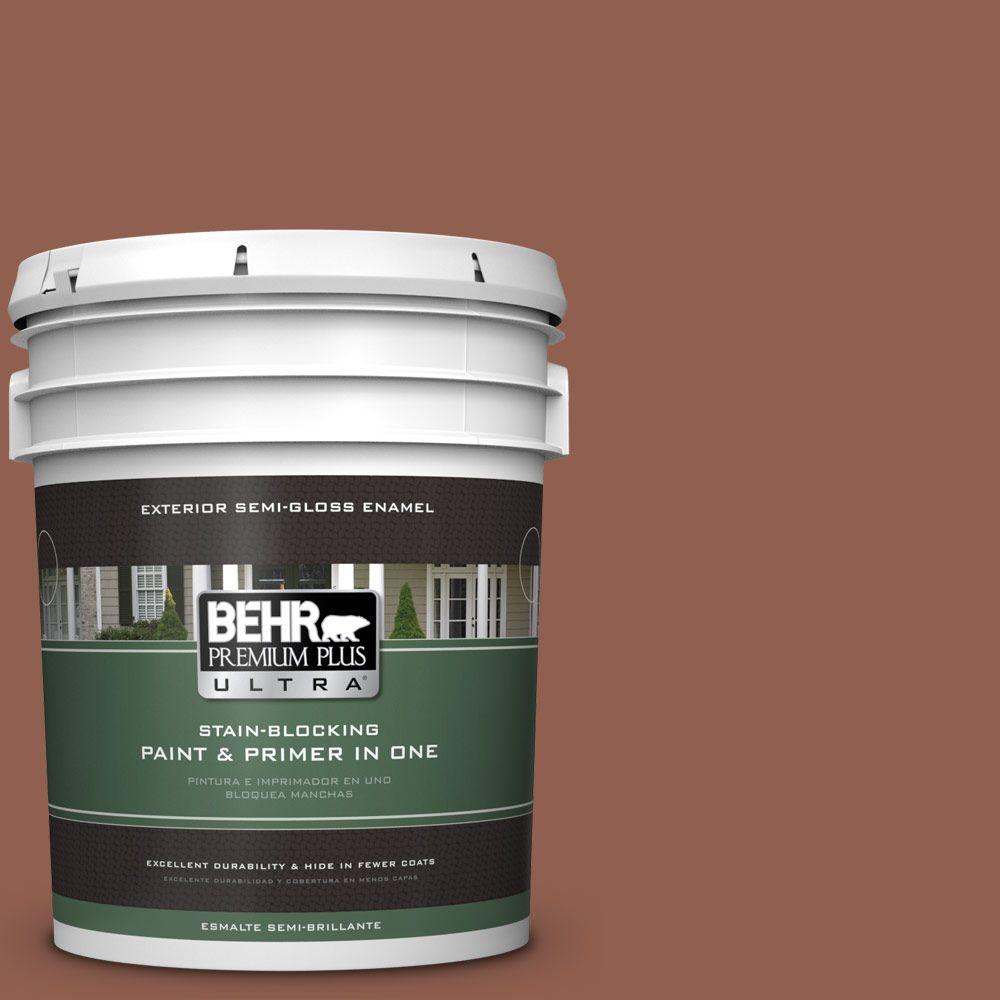 5-gal. #210F-7 Brown Thrush Semi-Gloss Enamel Exterior Paint