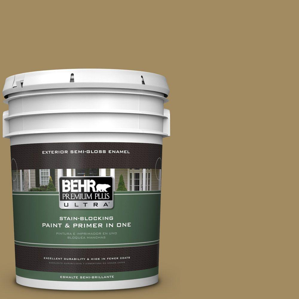 BEHR Premium Plus Ultra 5-gal. #S320-6 Garden Salt Green Semi-Gloss Enamel Exterior Paint