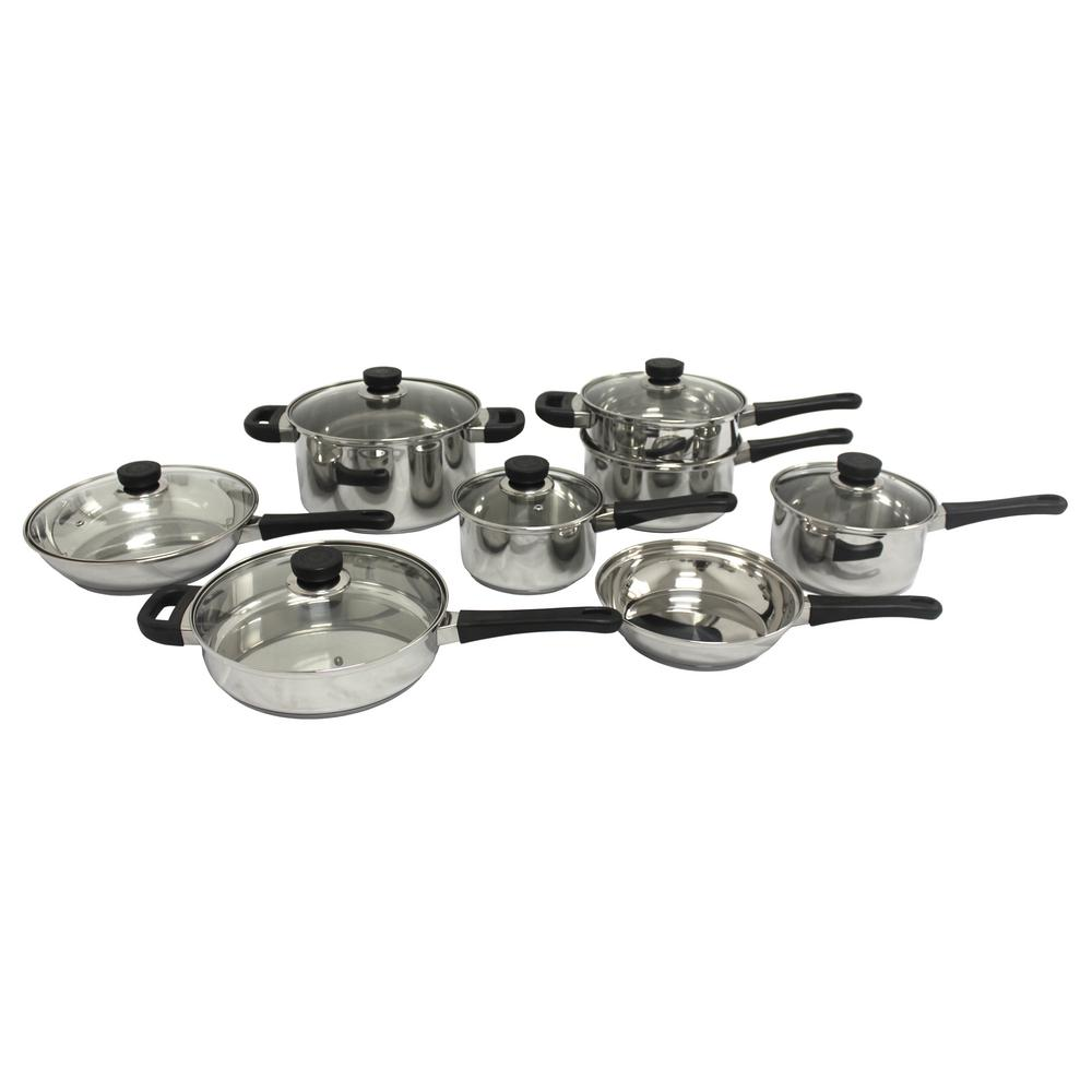 berghoff cooknco 14 pc cookware set 2214992 the home depot