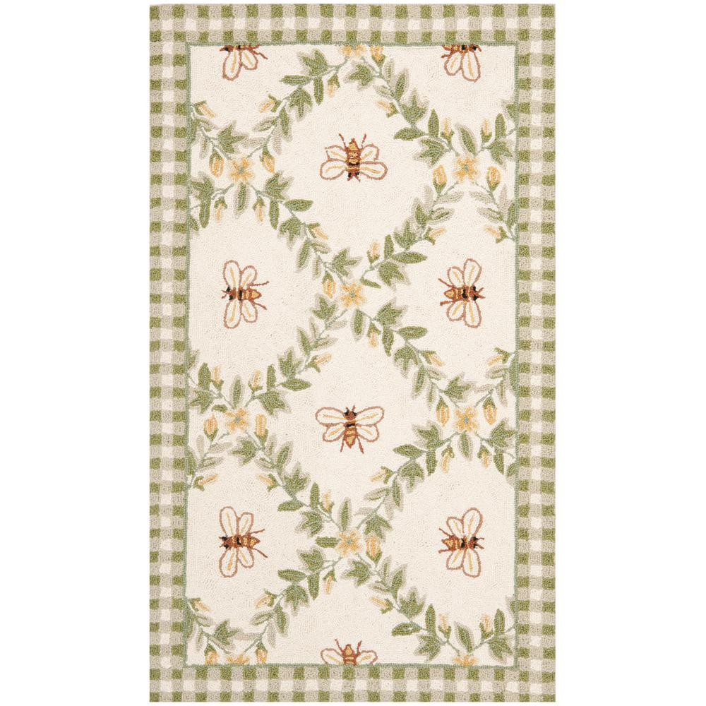Chelsea Ivory/Green 3 ft. x 4 ft. Area Rug