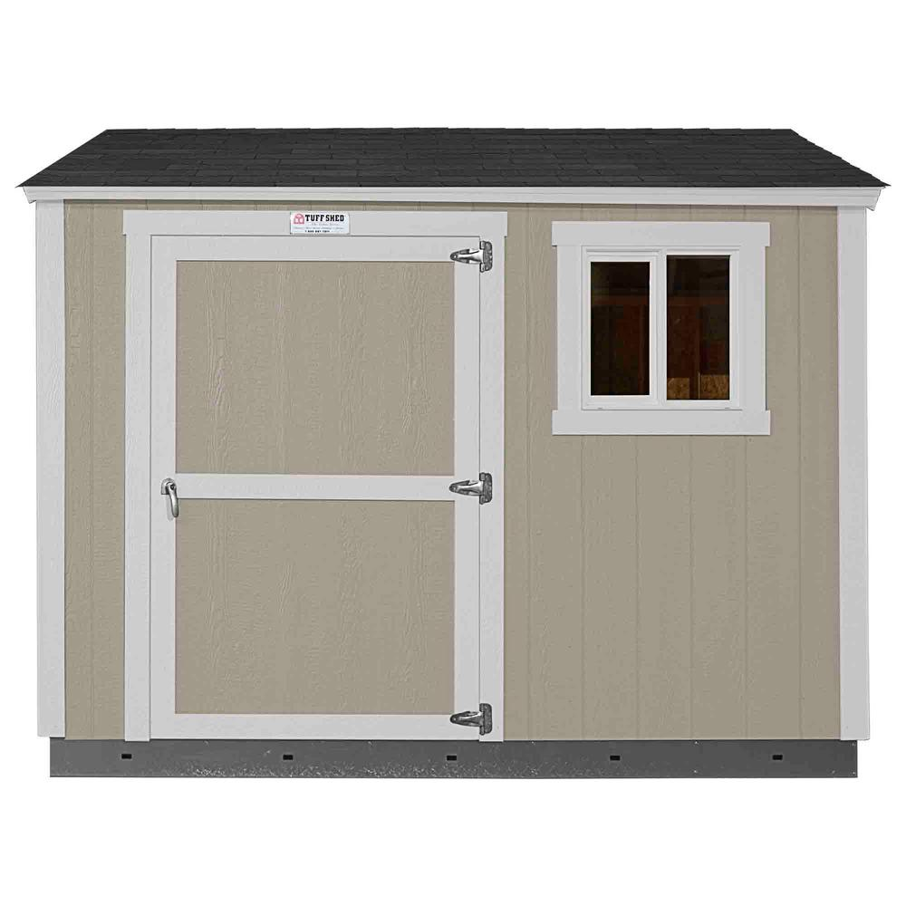 Tuff Shed Installed The Tahoe Series Tall Ranch 8 ft. x 10 ft. x 8 ft. 6 in. Painted Wood Storage Building Shed and Sidewall Door, Grays -  Tahoe 8x10 S