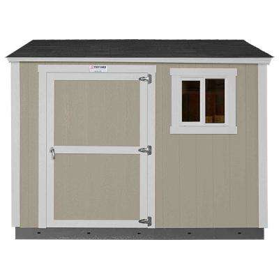 Installed Tahoe 8 ft. x 10 ft. x 8 ft. 6 in. Painted Wood Storage Building Shed with Shingles and Sidewall Door