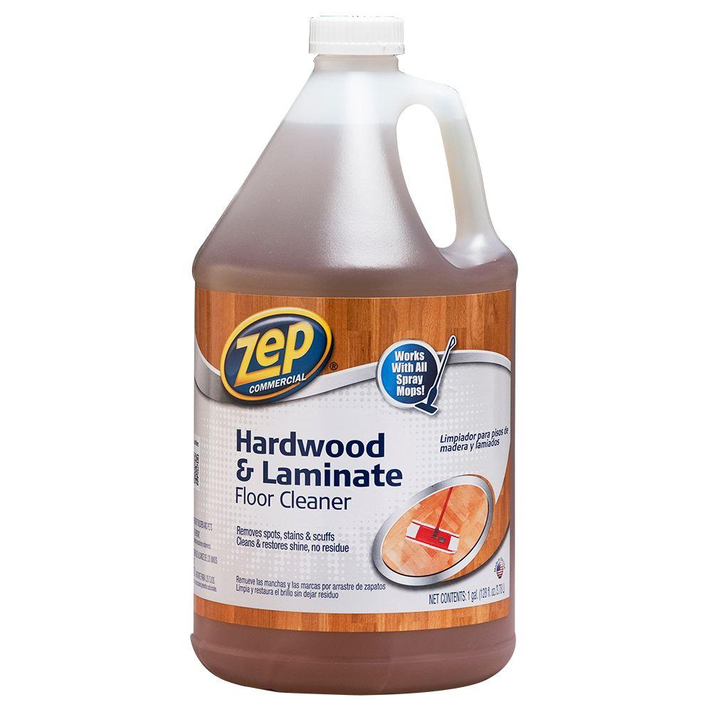 Laminate Wood Flooring Cleaner: ZEP 128 Oz. Hardwood And Laminate Floor Cleaner-ZUHLF128