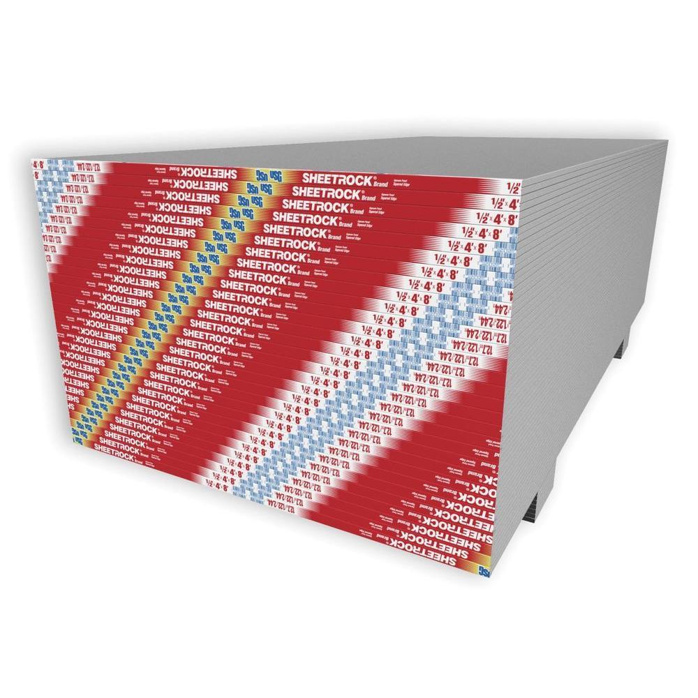 Usg Sheetrock Brand 1 2 In X 4 Ft X 8 Ft Gypsum Panels 14126011708 The Home Depot