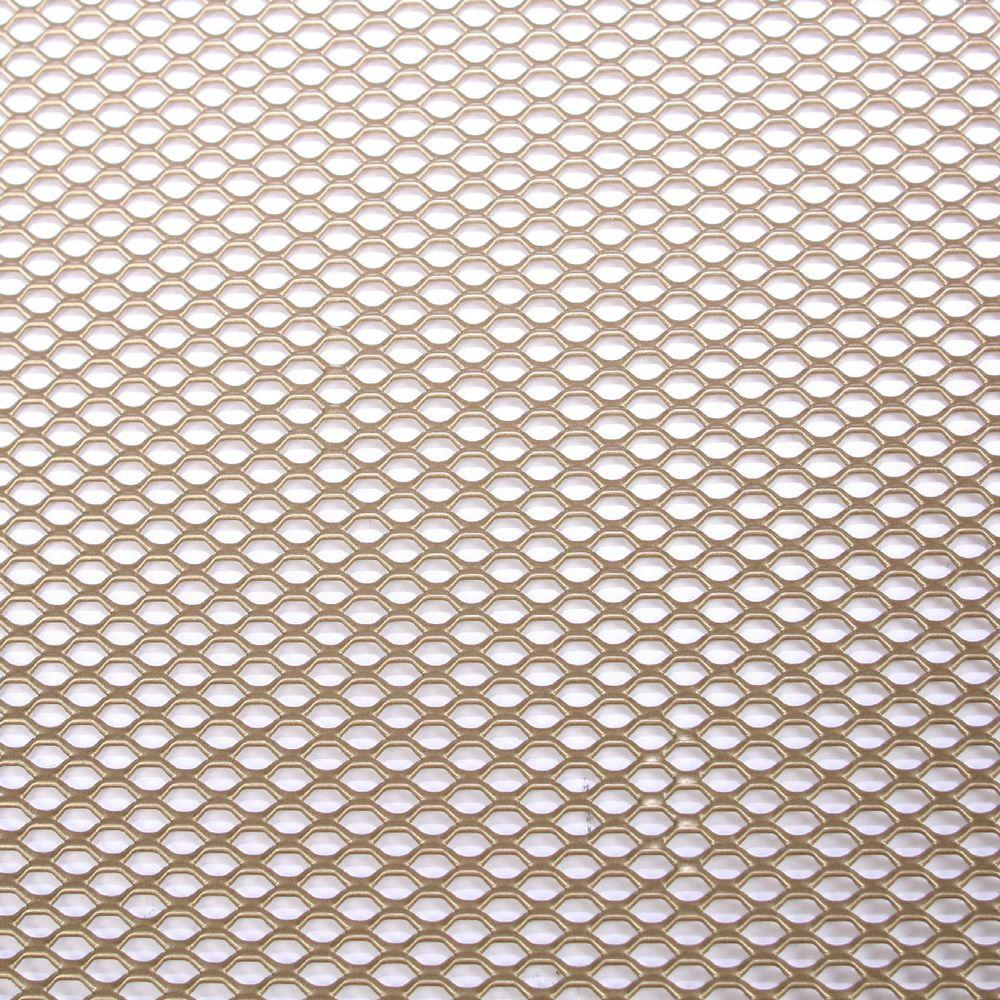 M D Building Products 36 In X 48 In Expandable Aluminum Sheet In Brass 57372 The Home Depot